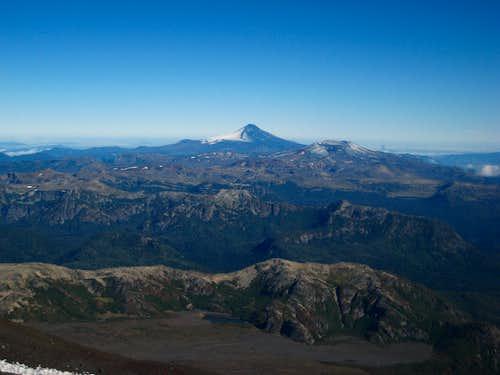 Villarrica from the slopes of Lanin
