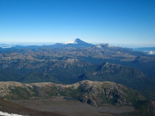 Villarrica from the slopes of Lanin