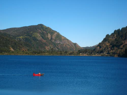 Boater on Laguna Quillelhue
