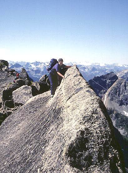 Slab pitch, South Arete Route, SEWS