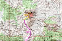Temple Mountain Route Map