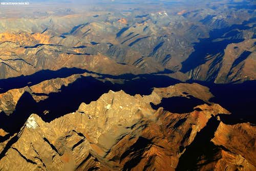 Aerial view of Andes
