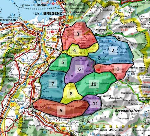 Subgroups of Bregenzerwaldgebirge