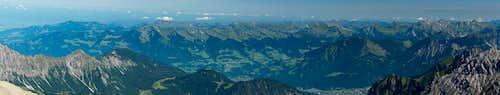 Bregenzerwaldgebirge seen from Schesaplana
