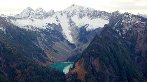 Vesper Peak and Copper Lake from Marble Peak - 3-21-15