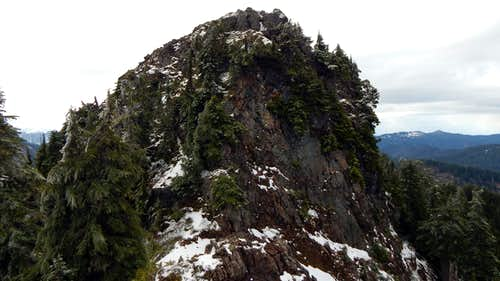 Marble Peak summit block from the east