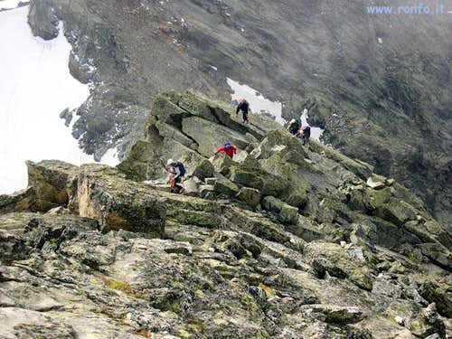 The last part of the ridge...