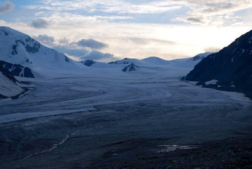 The Potaniin Glacier from basecamp