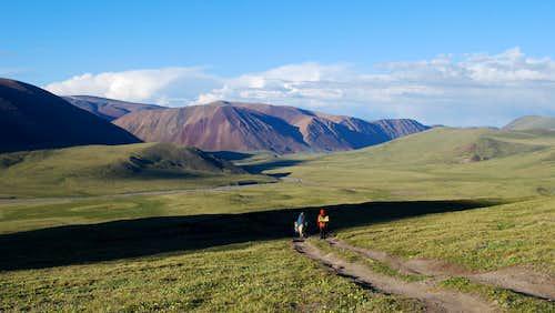 Leaving Altai Tavan Bogd National Park