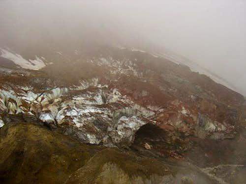 Dirty glacier inside...