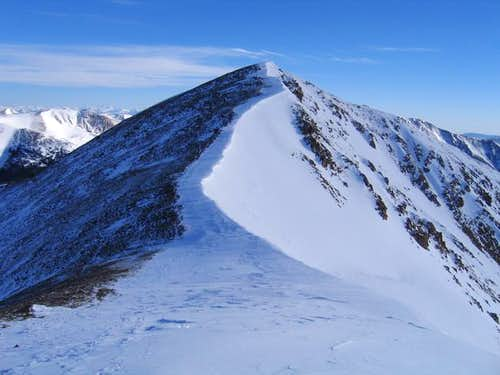 Sniktau\'s summit ridge in...