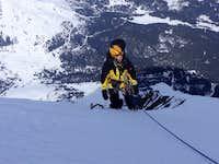 Heckmair route - Mittelegi ridge