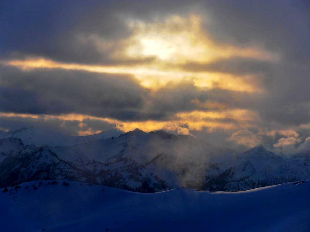 Sunset over Mt. Daniel