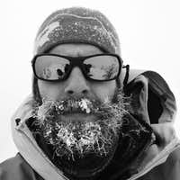 My awesome beard on the summit