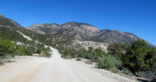 driving into West Mtn Peak