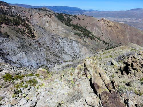 View into Hunter Creek Canyon
