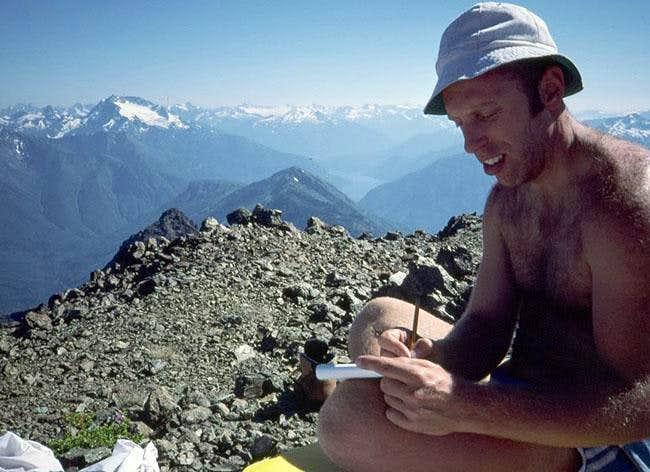 Author on the summit, July...