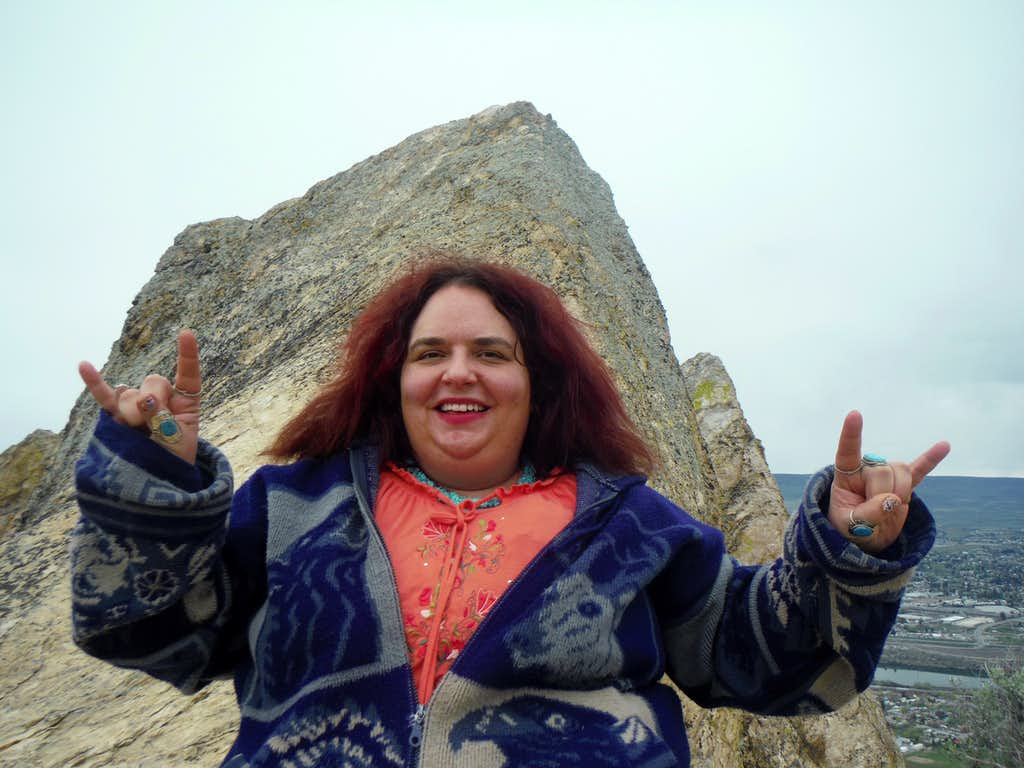 BearQueen at the summit rock