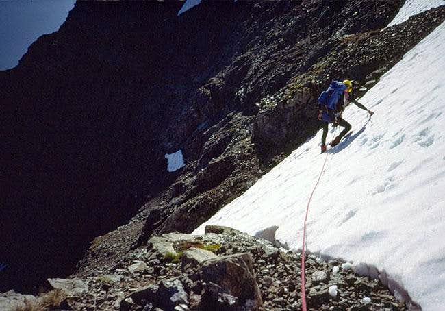 Descending the upper...