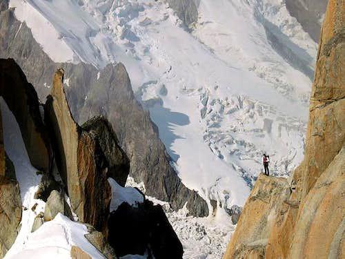 Climbing Aiuguille du Midi