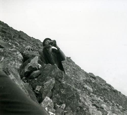 Aosta / 4a Ascending on Becca Viou from Aosta 1965