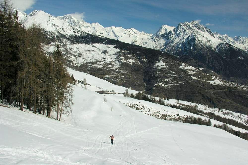 Aosta / 4b Last steps towards Refuge Chaligne 2006