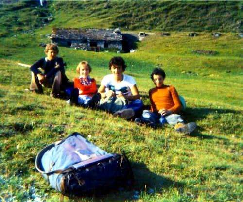 Baltea / 4c Rest nearby Tsa de Morgnoz Alpage 1975