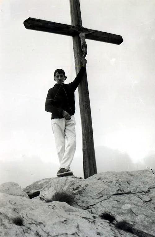 Baltea / 4c Pointe Chaligne Old Cross of Summit 1965