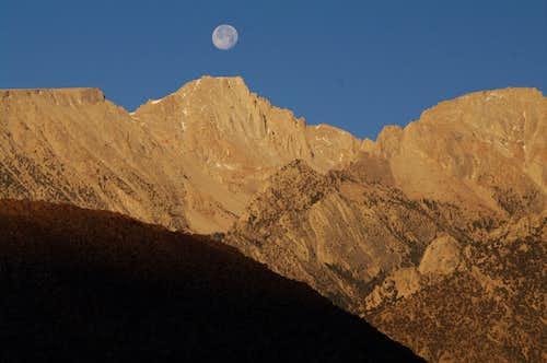 Mt. Langley moonset