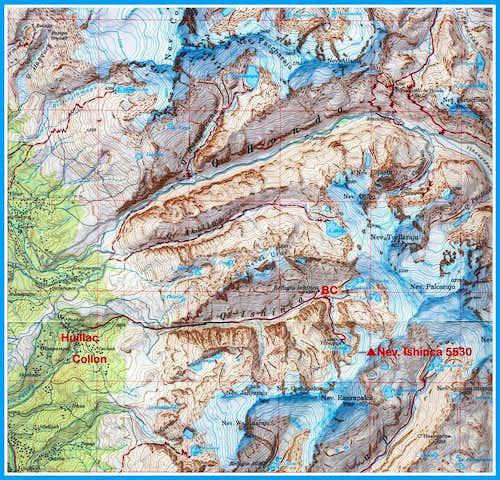 Mountain topographic maps