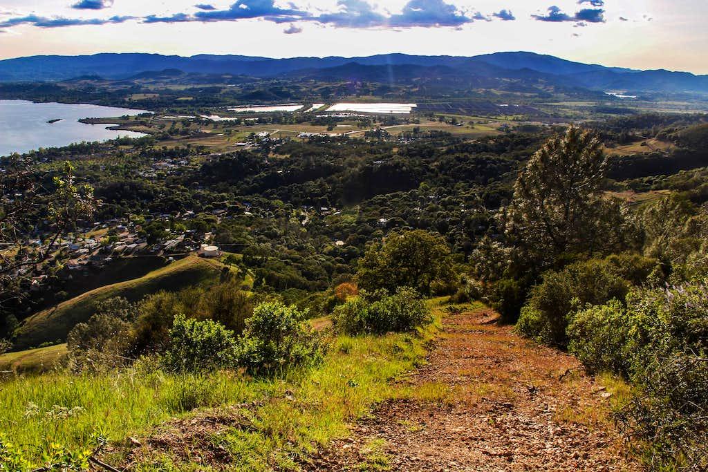 descending Hogback Ridge southwest slope