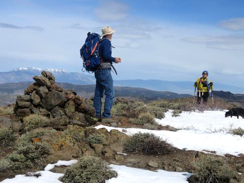 Group heading up to the summit marker