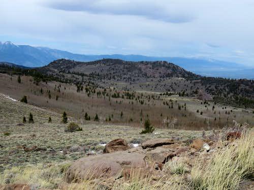 High Peak 8,519' from Leviathan Peak