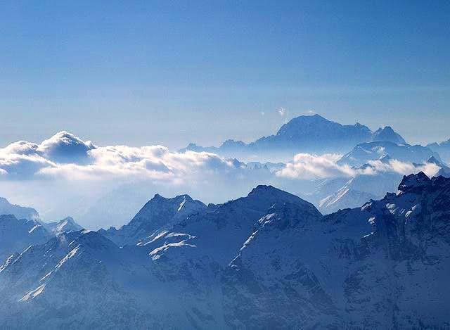 Mont Blanc seen from Klein...