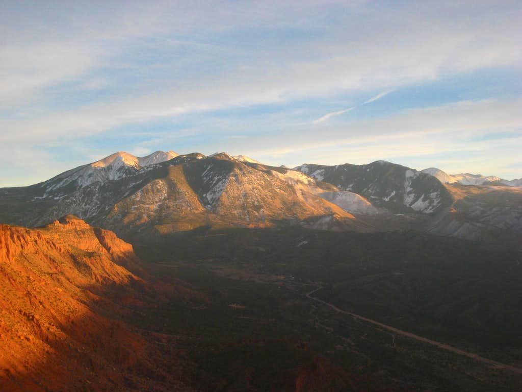 La Sal Mountains from Castleton