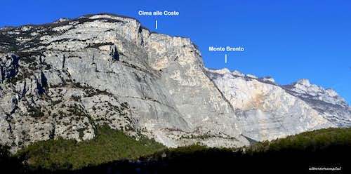 Cima alle Coste and Brento annotated view