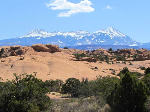 La Sal Mountains, middle section