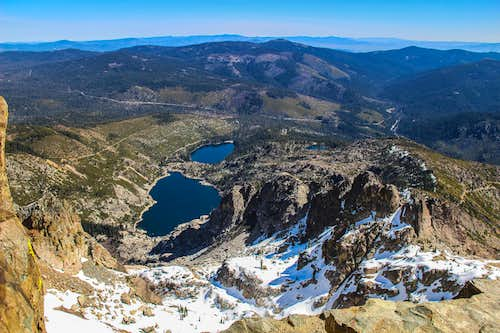 Sardine Lakes from Sierra Buttes