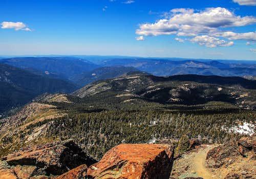 Sierra Buttes west view