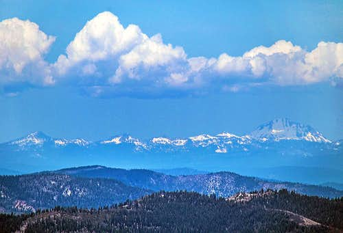 Lassen Peak and that bunch from Sierra Buttes.