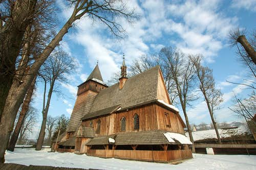 Wooden church in Harklowa