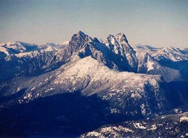 Hozomeen Mountain's two...