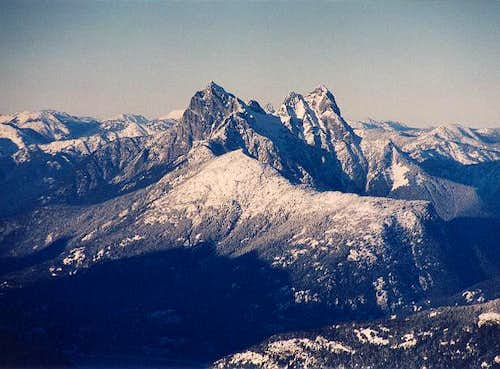Hozomeen Mountain\'s two...