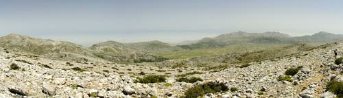 Summit view towards the Lasithi Plateau