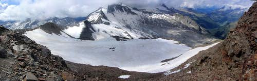 Panoramic view from high on Lenkstein towards Barmerspitze and Hochgall - <i>I don't like the look of those clouds...</i>