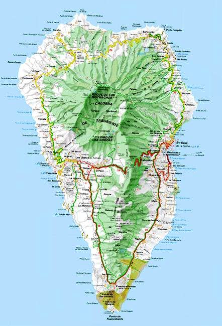 Map of La Palma. Don\'t try...