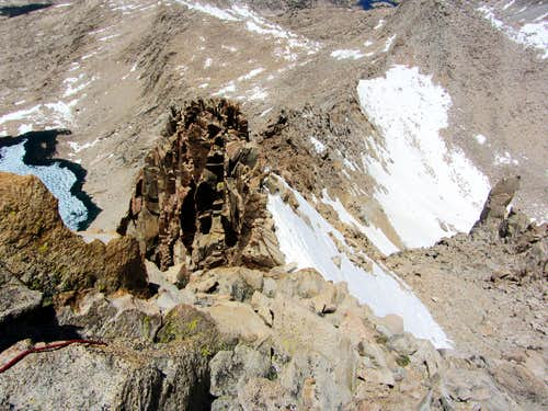 NW Arete from above