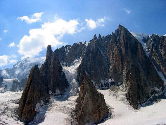 Rock Spires on Mount Blanc