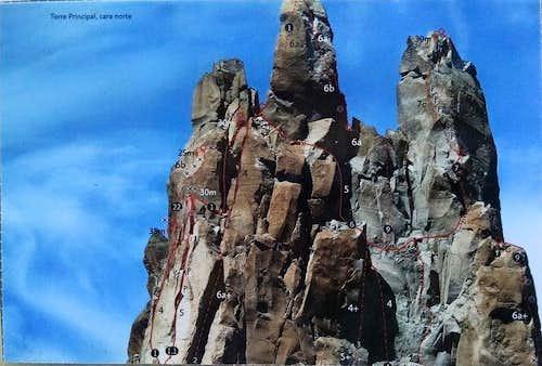 Torre Principal North Face Topo