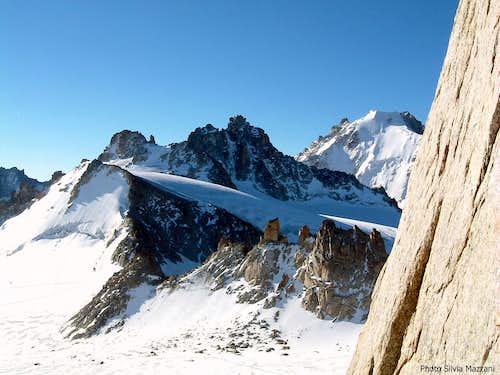 Glacier du Trient seen from Aiguille Purtscheller